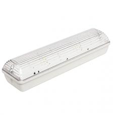 Указатель аварийный светодиодный METEOR BS-190-2x4 LED централизованный накладной IP65   a9987   Белый свет
