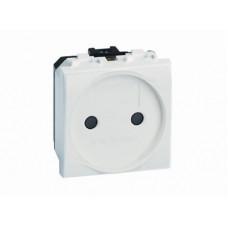 Электрическая розетка. без заземления. со шторками. белая. 2мод. | 76483B | DKC