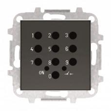 Накладка для механизма электронного выключателя с кодовой клавиатурой 8153.5, серия SKY, цвет чёрный барх. 2CLA855350A1501  ABB