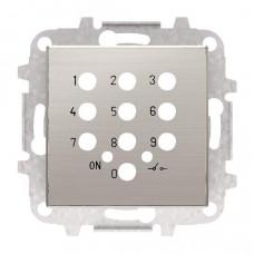 Накладка для механизма электронного выключателя с кодовой клавиатурой 8153.5, серия SKY, цвет нержавеющая сталь 2CLA855350A1401  ABB