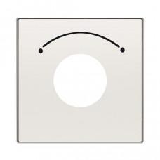 Накладка для механизма выключателя с ключом на 2 положения, серия SKY, цвет альпийский белый 2CLA855300A1101  ABB