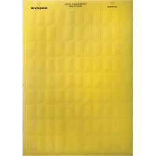 Табличка маркировочная, полиэстер 10х20мм. желтая | SITFP1020Y | DKC
