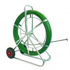 Устройство для протяжки кабеля STRONG, вертик., с колесами, 100 м   143216   Haupa