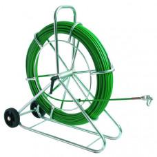 Устройство для протяжки кабеля FIX, вертикальное, с колесами, 120 м   143168   Haupa