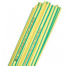 Термоусаживаемая трубка ТУТ 14/7 желто-зеленая EKF PROxima | tut-14-yg-1m | EKF