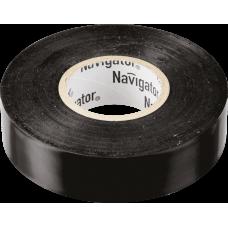 Изолента NIT-B15-20/BL чёрная | 71103 | Navigator