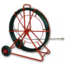 Устройство для протяжки кабеля KING, вертик., с колесами, 150 м   143270   Haupa