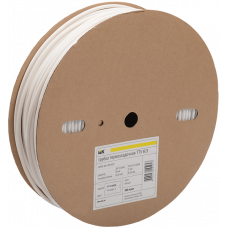 Трубка термоусаживаемая ТТУ 8/4 белая 100 м/упак | UDRS-D8-100-K01 | IEK