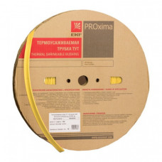 Термоусаживаемая трубка ТУТ 50/25 желтая EKF PROxima | tut-50-y | EKF