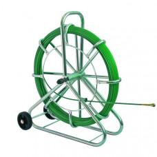 Устройство для протяжки кабеля SIX, вертикальное, с колесами, 100 м   143117   Haupa