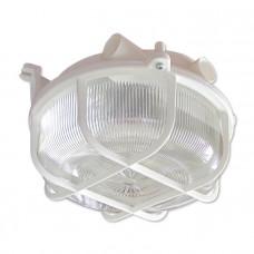 Светильник НПП Креа Круг 03-007 100Вт ЛН/КЛЛ/LED Е27 IP44 корпус пластик с решеткой белый | 1005500877 | Элетех