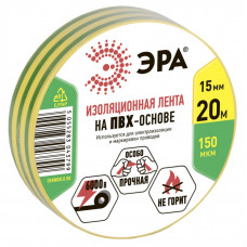 ПВХ-изолента 15мм*20м желто-зеленая | C0036548 | ЭРА