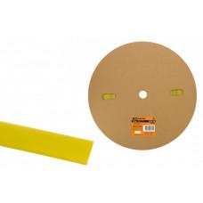 Термоусаживаемая трубка ТУТнг 20/10 желтая (100 м/ролл)   SQ0518-0051   TDM