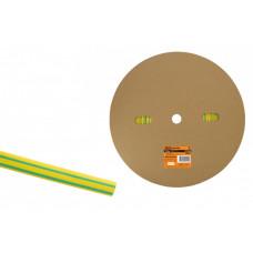 Термоусаживаемая трубка ТУТнг 12/6 желто-зеленая (100 м/ролл) | SQ0518-0024 | TDM