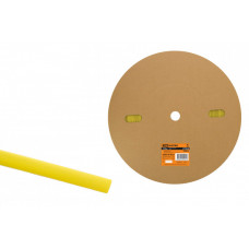 Термоусаживаемая трубка ТУТнг 12/6 желтая (100 м/ролл)   SQ0518-0023   TDM