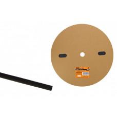 Термоусаживаемая трубка ТУТнг 8/4 черная (100 м/ролл)   SQ0518-0014   TDM