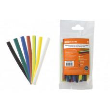 Термоусаживаемая трубка ТУТнг 6/3 набор (7 цветов по 3 шт. 100мм) |SQ0518-0503 | TDM