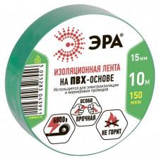 ПВХ-изолента 15мм*10м зеленая | C0036555 | ЭРА