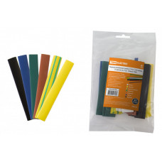 Термоусаживаемая трубка ТУТнг 12/6 набор (7 цветов по 3 шт. 100мм) | SQ0518-0506 | TDM
