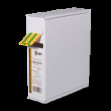 Термоусаживаемя трубка в евро-боксеT-BOX 12/6 желто-зеленый (10м) | 65626 | КВТ