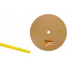 Термоусаживаемая трубка ТУТнг 8/4 желтая (100 м/ролл)   SQ0518-0009   TDM