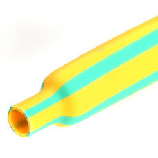 Трубка термоусаживаемая ТУТнг-12/6 желто-зеленая (100м/рул) | 60107 | КВТ