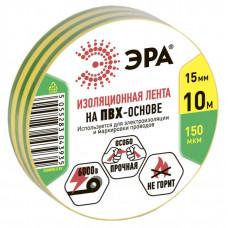 ПВХ-изолента 15мм*10м желто-зеленая | C0036559 | ЭРА