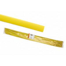 Термоусаживаемая трубка ТУТнг 6/3 желтая по 1м (50 м/упак)   SQ0518-0202   TDM