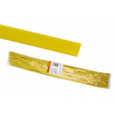 Термоусаживаемая трубка ТУТнг 12/6 желтая по 1м (50 м/упак)   SQ0518-0223   TDM