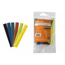 Термоусаживаемая трубка ТУТнг 8/4 набор (7 цветов по 3 шт. 100мм) | SQ0518-0504 | TDM