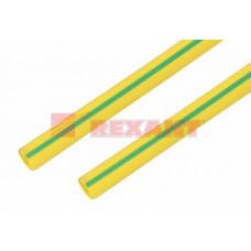 Термоусадка 25,0 / 12,5 мм, желто-зеленая (упак. 10 шт. по 1 м) | 22-5007 | REXANT