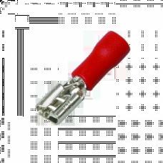 Разъем плоский РпИм 1,25-250 (100шт.) EKF PROxima | rpim-1,25-250 | EKF