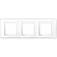 Unica Белый Рамка 3-ая   MGU2.006.18   Schneider Electric