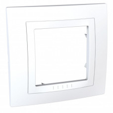 Unica Белый Рамка 1-ая литая   MGU2.002.18M   Schneider Electric