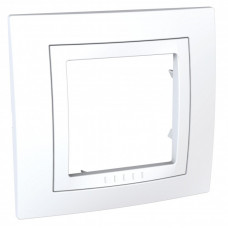 Unica Белый Рамка 1-ая   MGU2.002.18   Schneider Electric