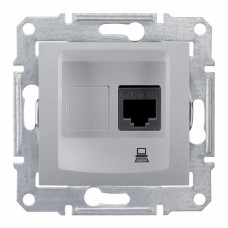 Sedna Алюминий Розетка компьютерная 1-ая RJ45 кат. 6 UTP | SDN4700160 | Schneider Electric