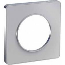 Odace Алюминий/Алюминий (пластик) Рамка 1-ая | S53P802 | Schneider Electric