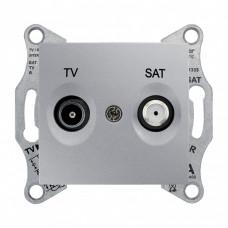 Sedna Алюминий Розетка TV/SAT проходная 8dB | SDN3401260 | Schneider Electric