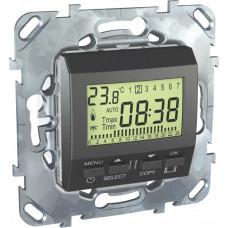 Unica TOP Графит Термостат электронный программируемый 8А (от+5 до +30) | MGU5.505.12ZD | Schneider Electric