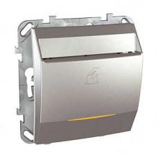 Unica TOP Алюминий Выключатель карточный c задержкой отключения | MGU5.540.30ZD | Schneider Electric