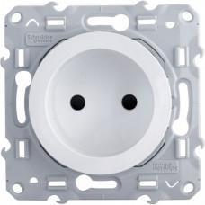 Odace Белый Розетка б/з со шторками | S52R033 | Schneider Electric