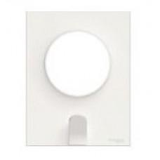 Odace Белый Рамка 1-я + держатель для ключей | S52P722 | Schneider Electric