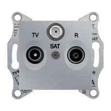 Sedna Алюминий Розетка TV/R/SAT проходная 4dB | SDN3501460 | Schneider Electric
