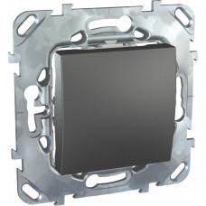 Unica TOP Графит Выключатель 1-клавишный (сх.1) | MGU5.201.12ZD | Schneider Electric