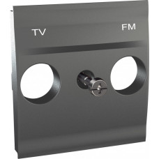 Unica TOP Графит Центральная плата TV-FM розетки | MGU9.440.12 | Schneider Electric