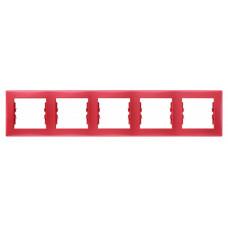 Sedna Красная Рамка 5-я горизонтальная | SDN5800941 | Schneider Electric