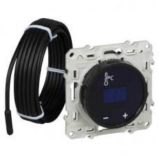 Odace Черный Термостат теплого пола с сенсорным дисплеем | S52R509 | Schneider Electric
