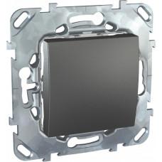 Unica TOP Графит Выключатель 1-клавишный кнопочный | MGU5.206.12ZD | Schneider Electric