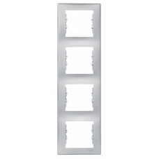 Sedna Алюминий Рамка 4-ая вертикальная | SDN5802060 | Schneider Electric