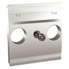 Unica TOP Алюминий Центральная плата TV-FM розетки | MGU9.440.30 | Schneider Electric